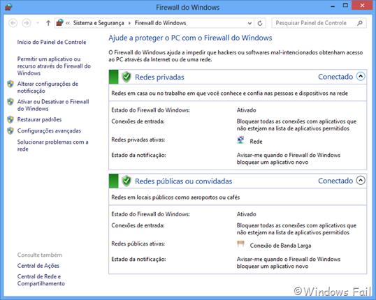 Firewall do Windows 8
