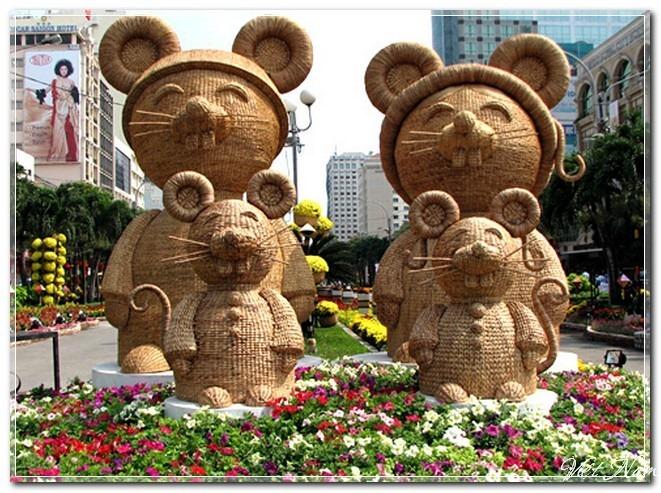 Ảnh đường hoa Nguyễn Huệ qua các năm