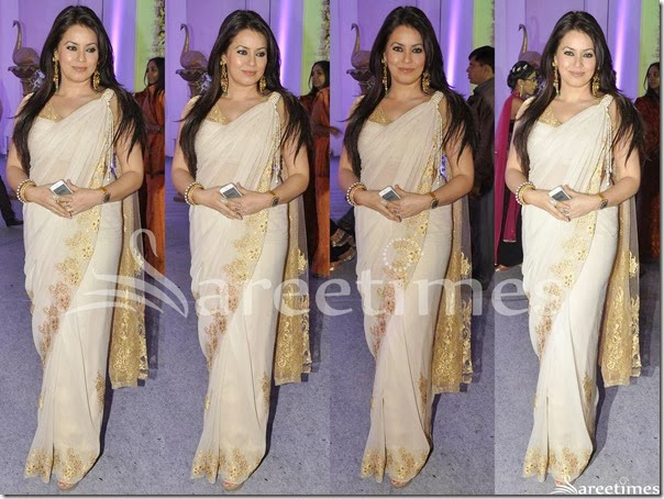 Cream_Georgette_Saree