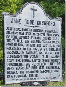 Jane Todd Crawford marker, Rockbridge County, VA