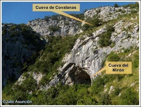 Cueva del Mirón y localización de la Cueva de Covalanas
