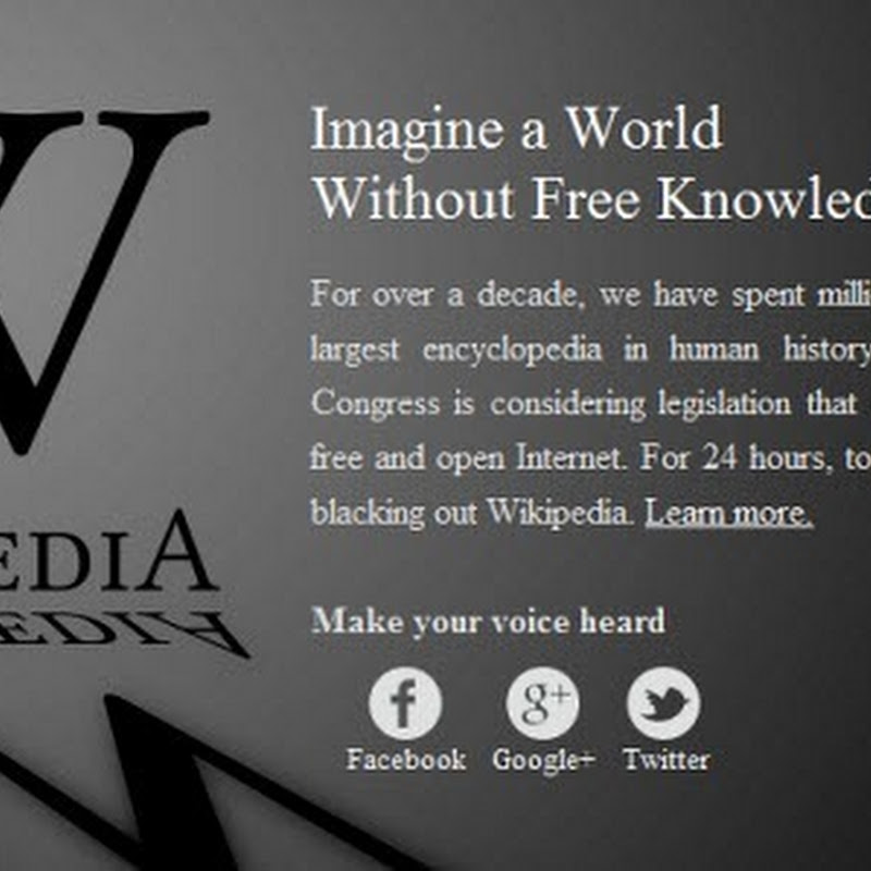 Quick Tip: How to Access Wikipedia During SOPA Blackout