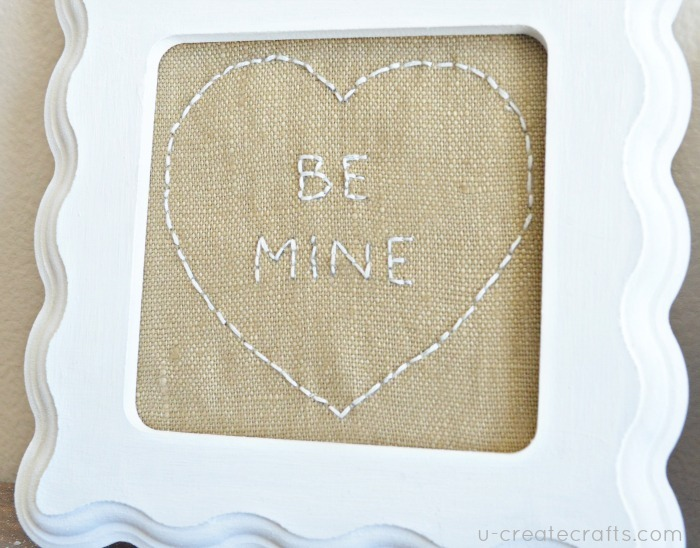 BE MINE Free Stitching Pattern at u-createcrafts.com