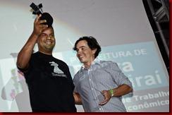 Roberto Silva, de Guaíba (RS), que teve dois filmes selecionados para a Mostra Competitiva Nacional, Âmago e Para Matar o Mouro, recebeu o prêmio da categoria representando seus conterrâneos vencedores do filme Um pai para meu filho, de Flores da Cunha (RS)