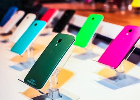 Smartphone Moto X 16 cores para personalização de capinhas e mais 504 opções de customização