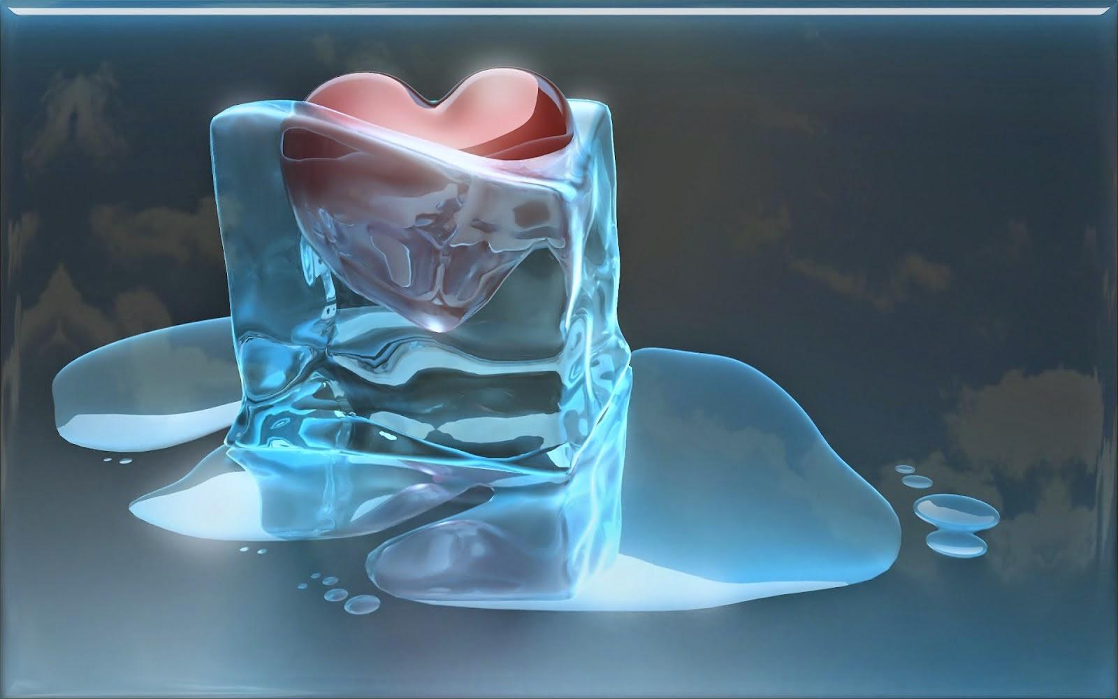 Clear Glass Heart Clorized In Hd Wallpaper