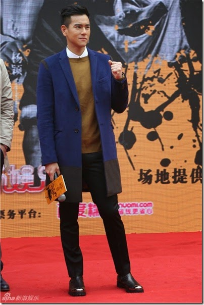 2014.11.12 Eddie Peng during Rise of the Legend - 彭于晏 黃飛鴻之英雄有夢 上海 - 主題曲MV首發 02