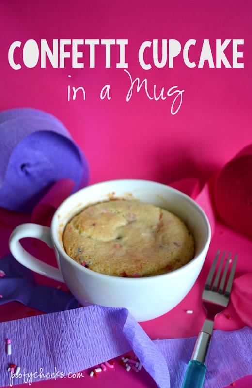 Confetti Cupcake in a Mug - Dessert in a Mug