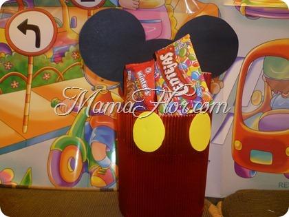 Caja de golosinas: Ratón Mickey Mouse - Manualidades MamaFlor