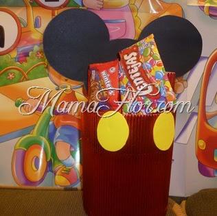 Caja de golosinas: Ratón Mickey Mouse
