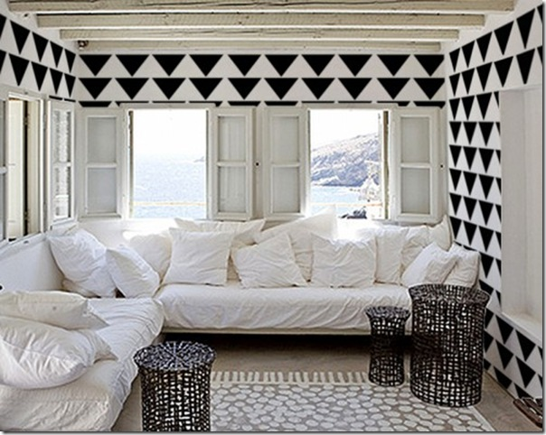case e interni - tendenza decorazione  triangoli - Triangles 5