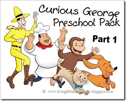 curious george preschool pack