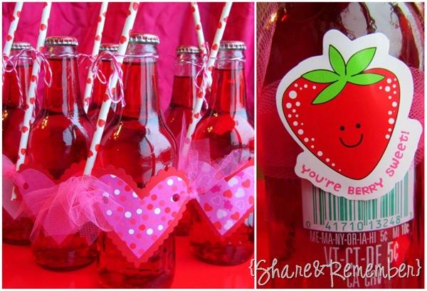 Strawberry Crush Soda Valentines