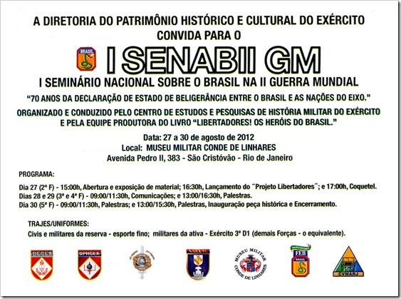 Convite I SENAB II GM Agosto 2012