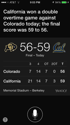 Cal won in double overtime