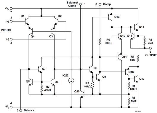 The LM101 monolithic IC op amp