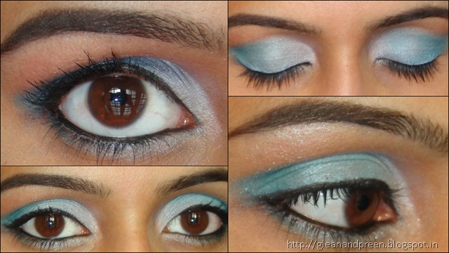 Frosty Blues Eye Make Up