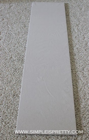 Drop Cloth Tack Board