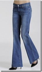 7 for All Mankind wide leg denim jeans