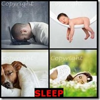 SLEEP- 4 Pics 1 Word Answers 3 Letters