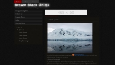 Brown black uniqx blogger template 225x128