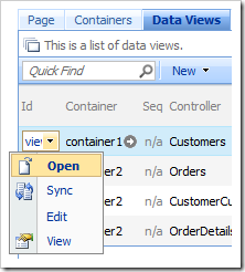 Open context menu option in the Project Browser.