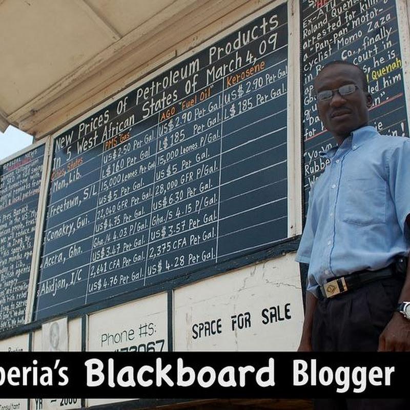 Alfred J. Sirleaf And His Chalkboard Newspaper
