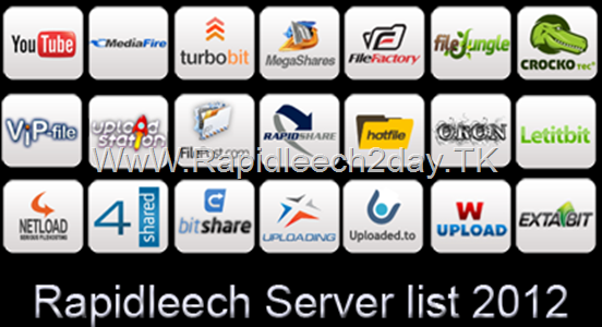 Rapidleech server list 2012 , Premium Link Generator Working 100% – turbobit, uploading, wupload, oron, Extabit and more…