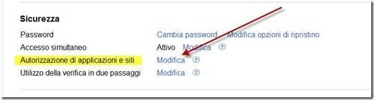 autorizzazione applicazioni siti google plus