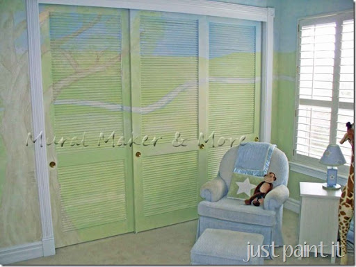Mural On Louvered Closet Do Mural On Louvered Doors