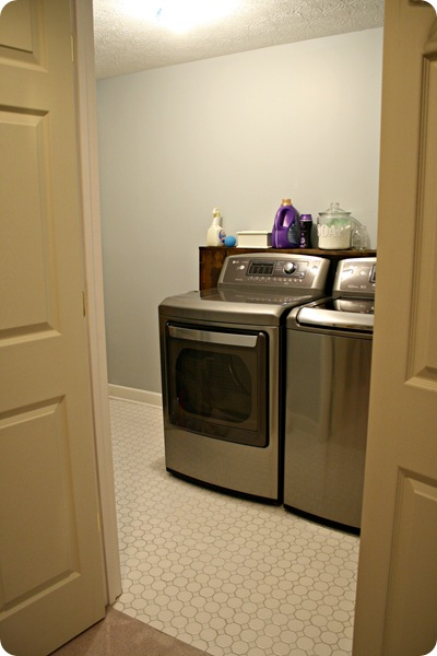 LG washer and dryer gray