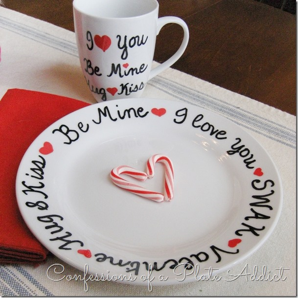 CONFESSIONS OF A PLATE ADDICT DIY Valentine Sharpie Plate