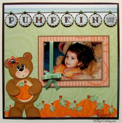 Pumpkin Patchie Cutie Doodlecharms Bear Piecing Layout