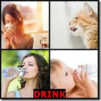 DRINK- 4 Pics 1 Word Answers 3 Letters