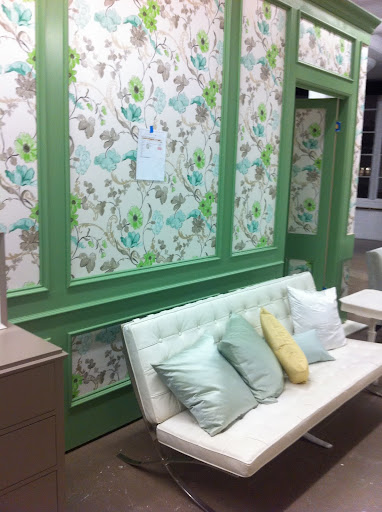 This wallpaper is stunning set within the striking molding.