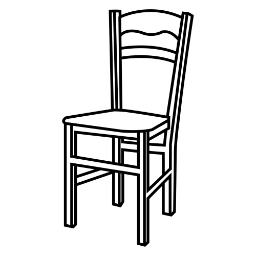 Chair coloring pages for kids for Silla facil de dibujar