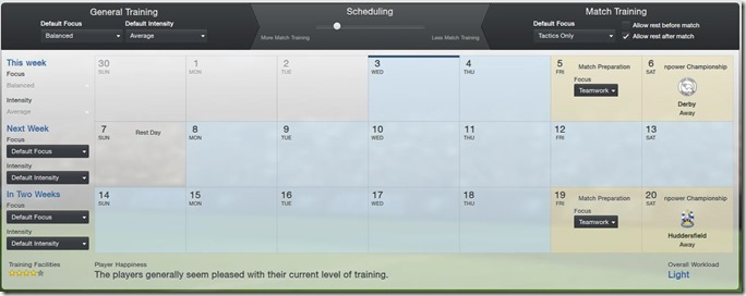 Football Manager 13 training