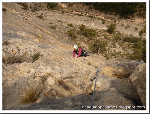 Via Gali-Molero 500m 6b  Ae (V  A1 Oblig) (Roca Regina, Terradets) (Omar) 0207