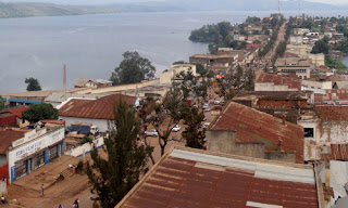 Une vue arienne de la ville de Bukavu. Photo PhilKin