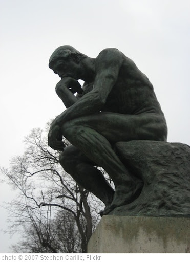 'The Thinker' photo (c) 2007, Stephen Carlile - license: http://creativecommons.org/licenses/by-nd/2.0/