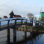 jose on the bridge in Zaandam, Noord Holland, Netherlands