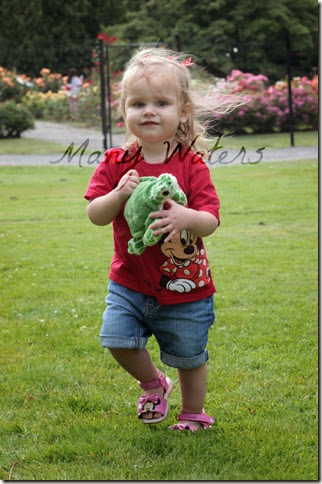Many Waters Munchkin and her turtle