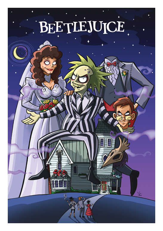 Ive Bastrash Movie Poster-Beetlejuice