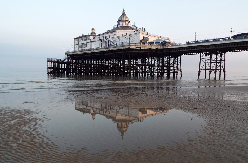 reflection of eastbourne pier