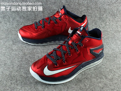 nike lebron 11 low gr red black 1 12 This LeBron 11 Low Dipped in USA Colors Drops in June