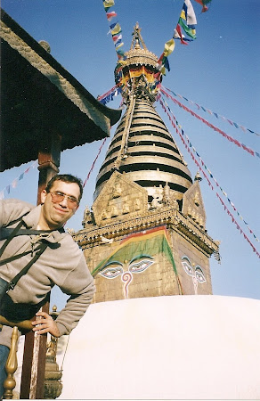 Temples Nepal: The temple in Swayambunath