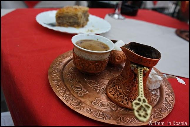 Bosnian Coffee Sadrvan Restaurant Mostar