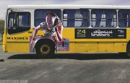 Creatividad publicitaria camion