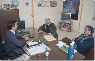 Secretario de Turismo municipal, Rodrigo Torre, el director de Promoción Turística, Gustavo Sosa, y el presidente de la Cámara de Turismo, Oscar Filgueira
