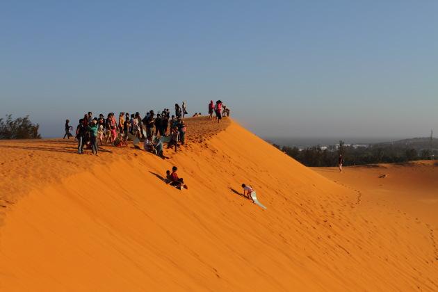 Sand Skiing at Mui Ne Red Sand Dunes, Vietnam